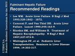 fulminant hepatic failure recommended readings
