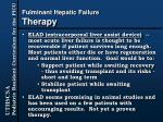 fulminant hepatic failure therapy33