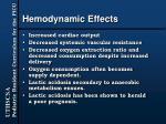 hemodynamic effects