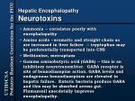 hepatic encephalopathy neurotoxins