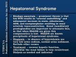 hepatorenal syndrome