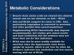 metabolic considerations23