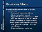respiratory effects