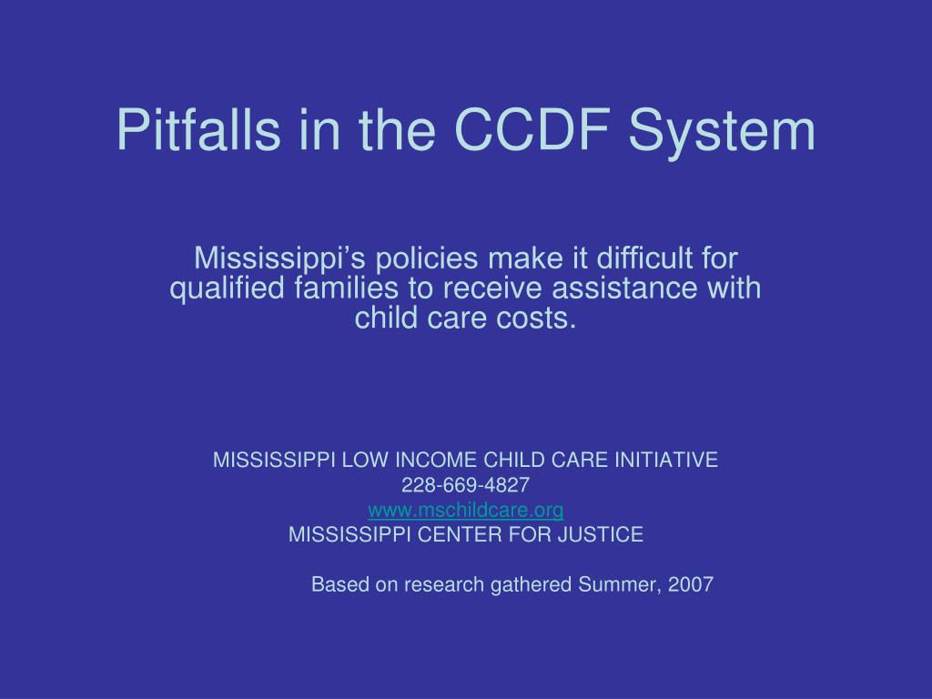 pitfalls in the ccdf system l.