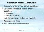 customer needs interviews