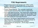 fsd requirements