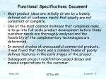 functional specifications document