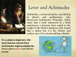 lever and achimedes