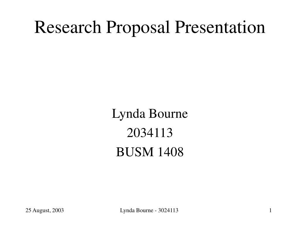 research proposal presentation l.