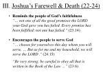 iii joshua s farewell death 22 24