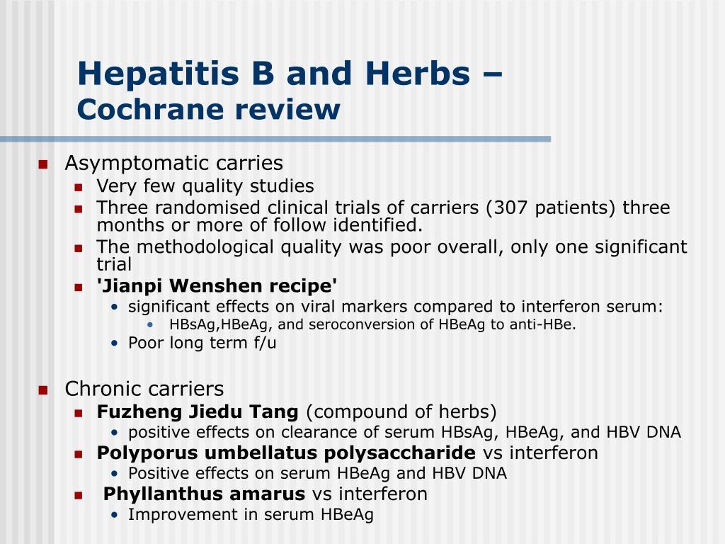 Hepatitis B and Herbs –