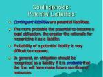 contingencies potential liabilities