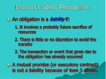 discuss liability recognition