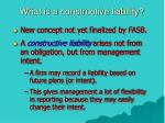 what is a constructive liability