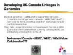 developing uk canada linkages in genomics