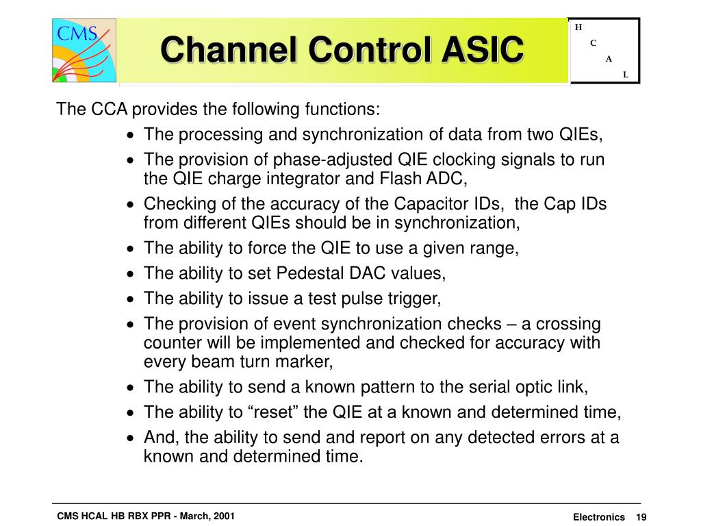Channel Control ASIC
