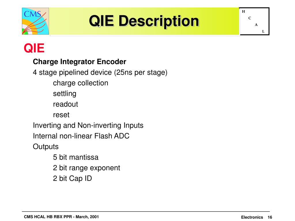QIE Description