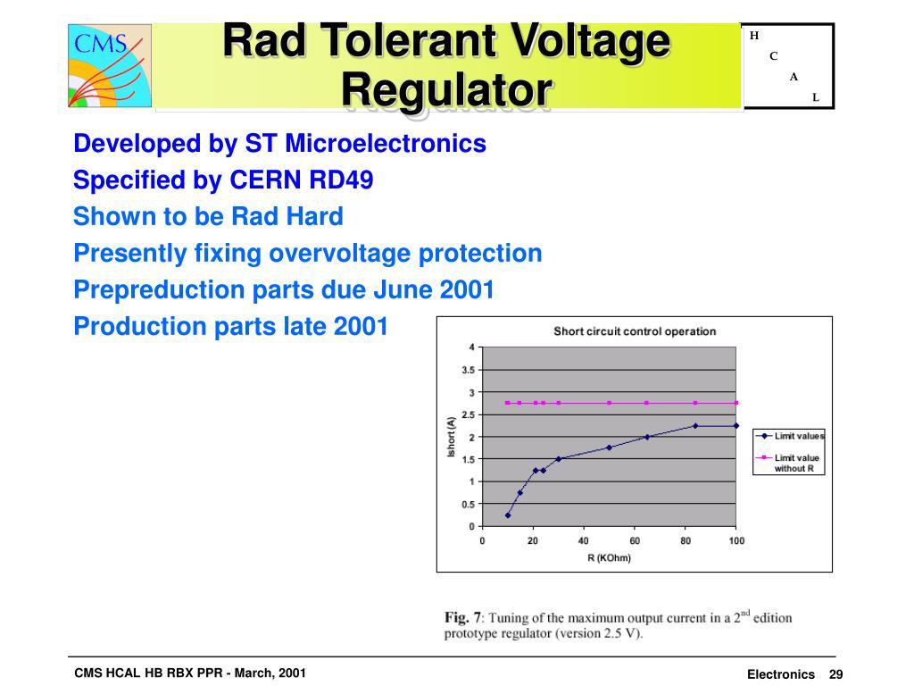 Rad Tolerant Voltage Regulator