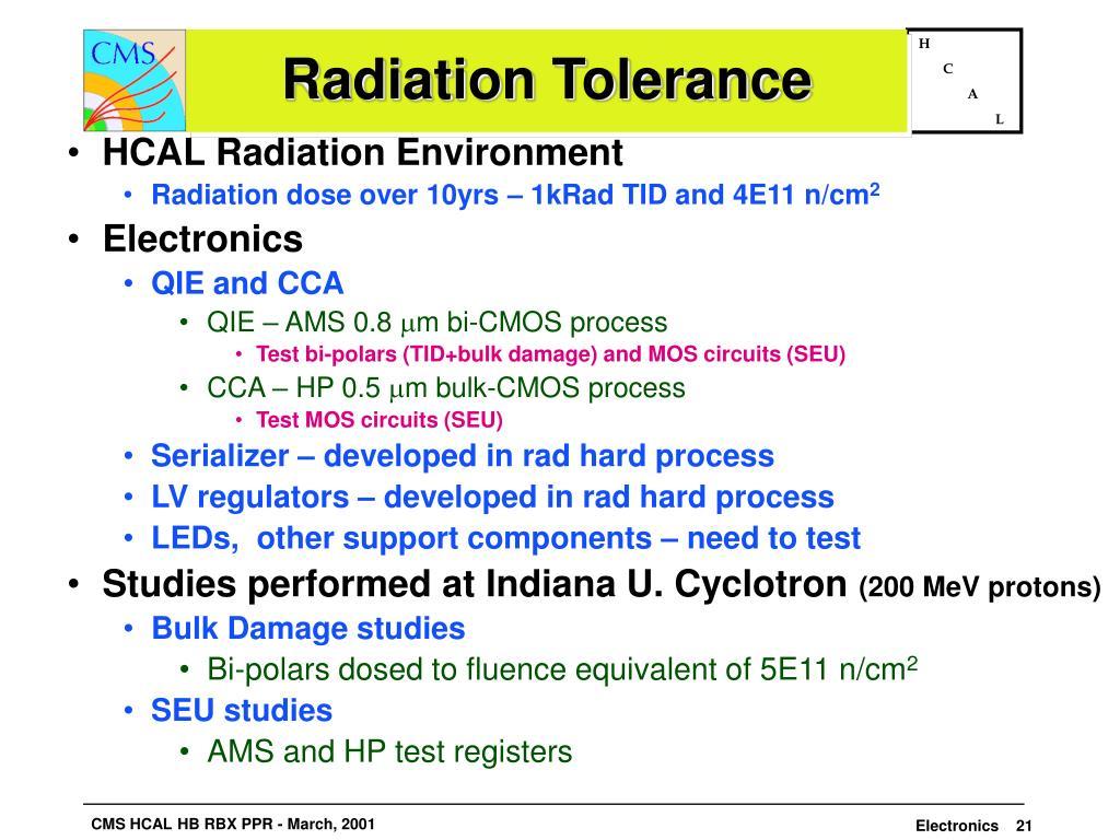 Radiation Tolerance