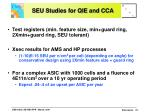 seu studies for qie and cca