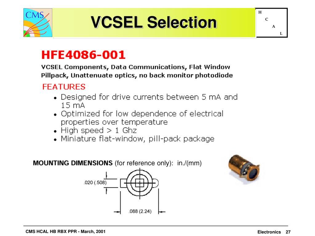 VCSEL Selection