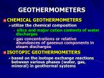 geothermometers