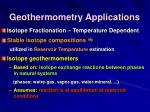 geothermometry applications86