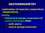 geothermometry