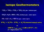 isotope geothermometers