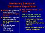 monitoring studies in geothermal exploitation