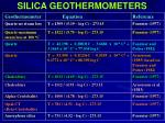 silica geothermometers28