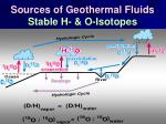 sources of geothermal fluids stable h o isotopes70
