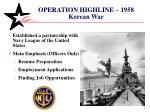 operation highline 1958 korean war