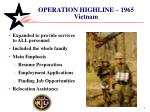operation highline 1965 vietnam