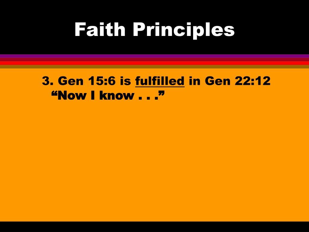 Faith Principles