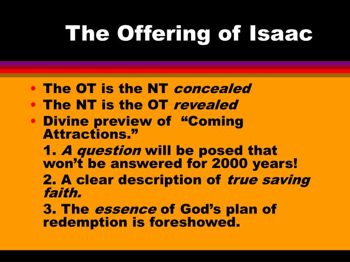 The offering of isaac