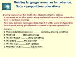 building language resources for cohesion noun preposition collocations