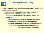 chaining thematic string