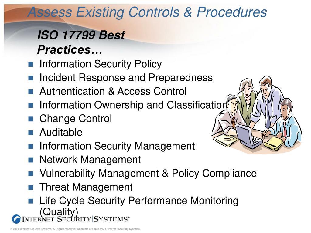 Assess Existing Controls & Procedures