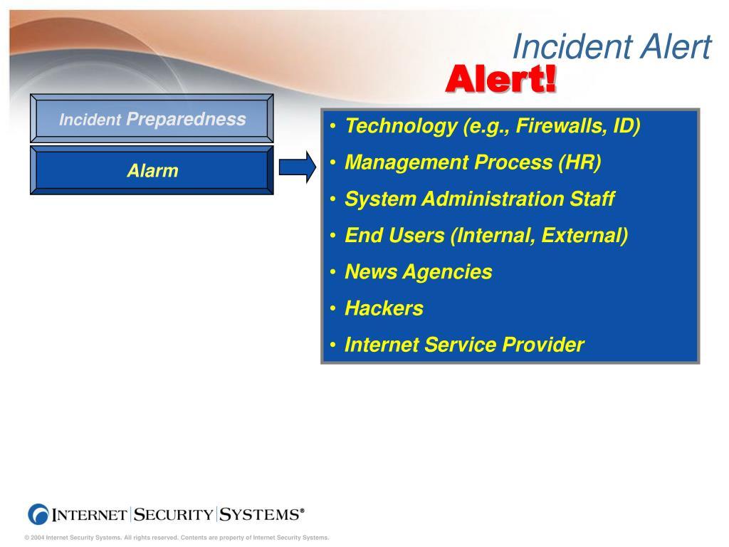 Incident Alert