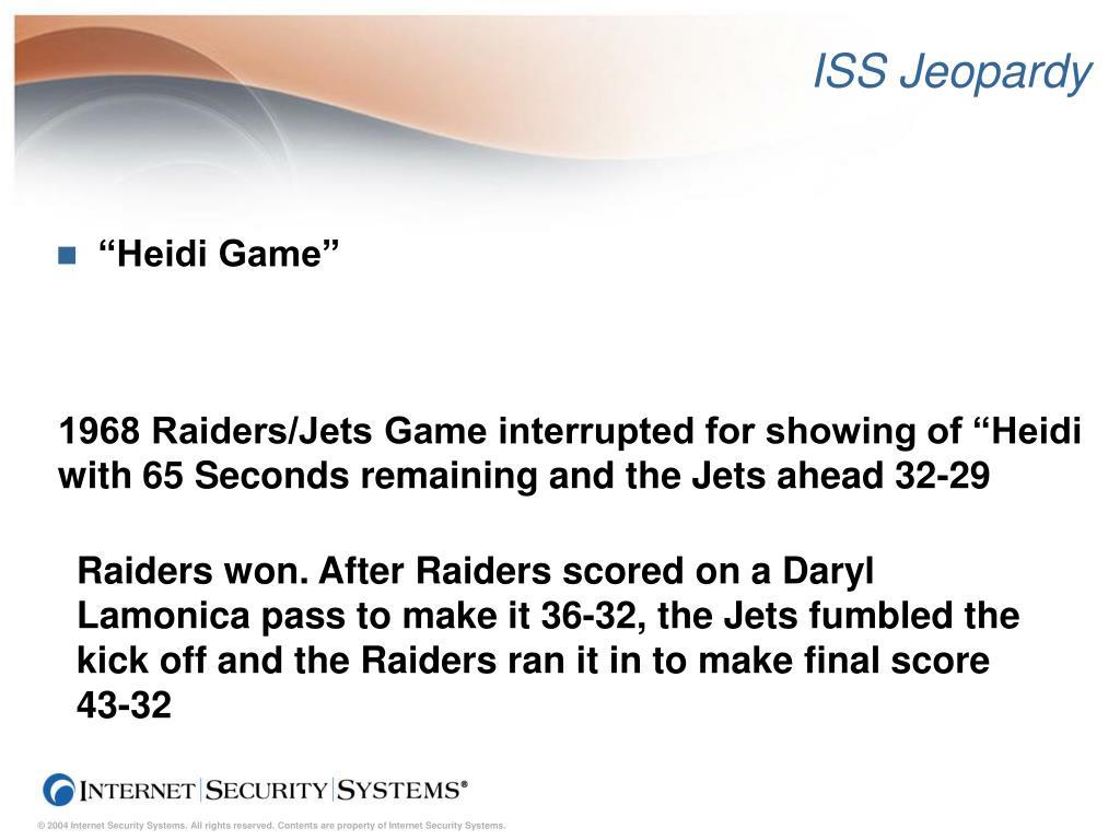 ISS Jeopardy