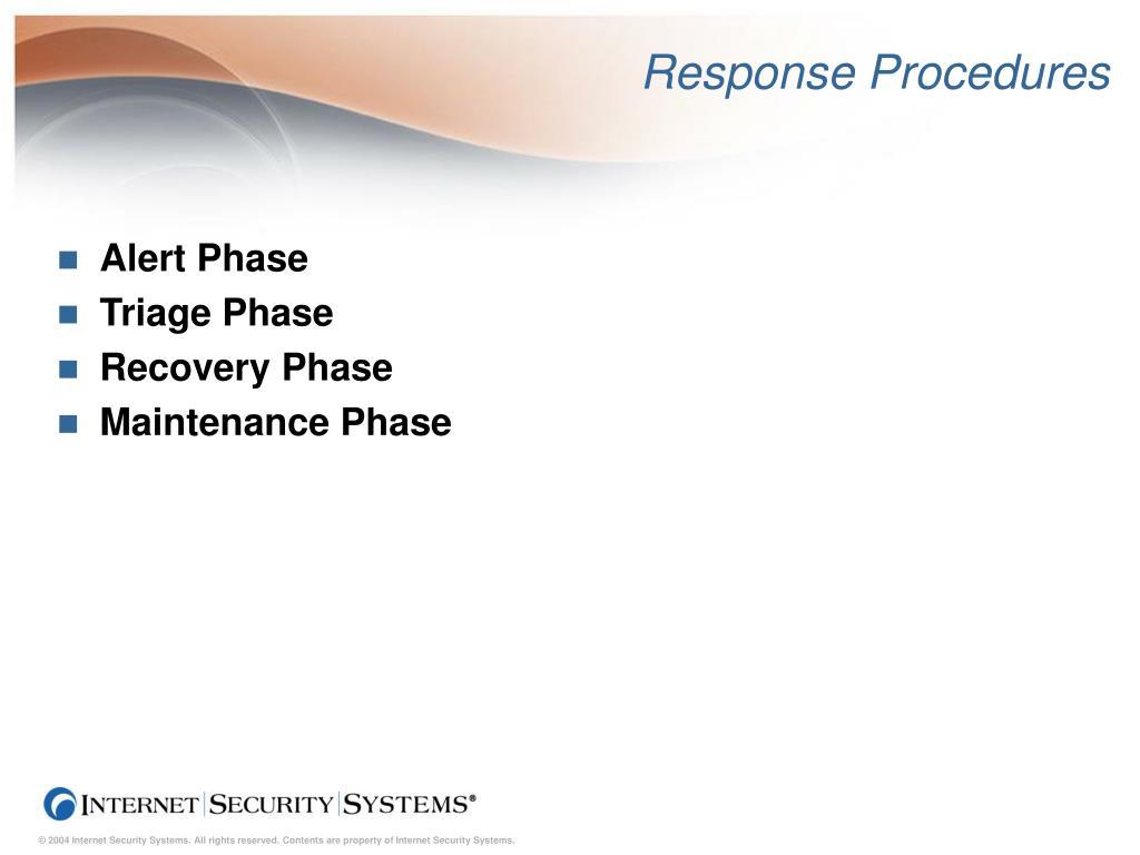 Response Procedures