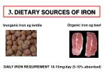 3 dietary sources of iron