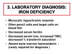 3 laboratory diagnosis iron deficiency