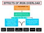 effects of iron overload