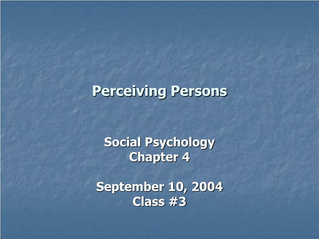 perceiving persons l.