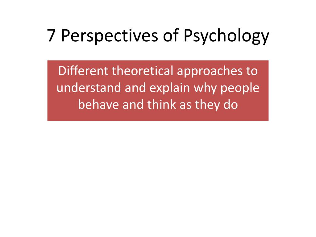 7 perspectives of psychology l.
