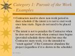 category 1 pursuit of the work examples27