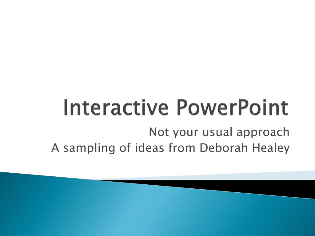interactive powerpoint l.