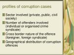 profiles of corruption cases